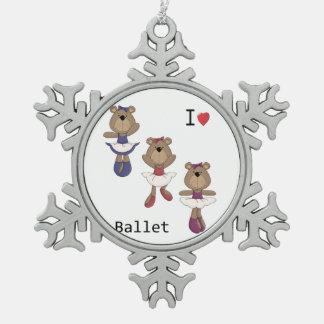 Bärn-Ballett Schneeflocken Zinn-Ornament