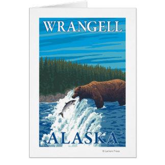 Bärn-Fischen im Fluss- Wrangell, Alaska Karte