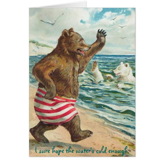 Bärn-Morgen-Schwimmen Grußkarte
