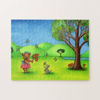 Bärn-und Kätzchen-Puzzle mit Geschenkboxen