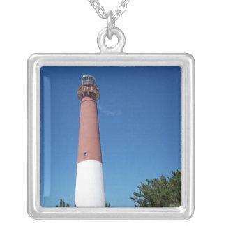 Barnegat Leuchtturm-alter Krach Halskette Mit Quadratischem Anhänger