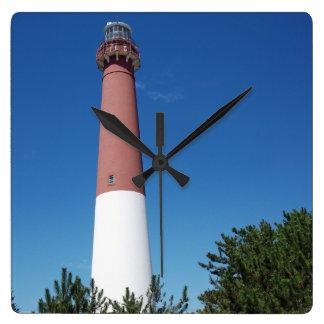Barnegat Leuchtturm-alter Krach Quadratische Wanduhr