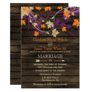 Barnwood, das rustikale wedding 12,7 x 17,8 cm einladungskarte