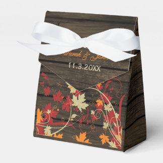 Barnwood rustikal, Herbstlaub-Gastgeschenk Geschenkschachtel
