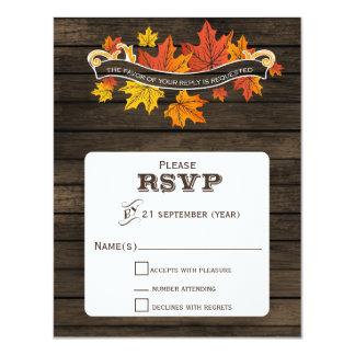 Barnwood rustikales Hochzeit im Herbsts-uAwg 10,8 X 14 Cm Einladungskarte