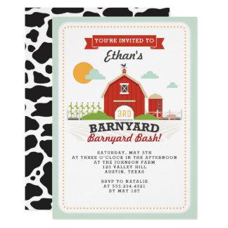 Barnyard-Geburtstags-Party Einladung