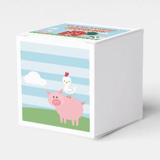 Barnyard-Geburtstags-Schlag-Bevorzugungs-Kasten Geschenkschachtel