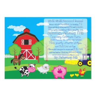 Barnyard-Tier - Bauernhof - Einladung - Party