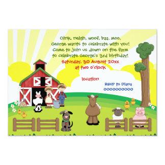 BarnyardVieh-Kindergeburtstag 12,7 X 17,8 Cm Einladungskarte
