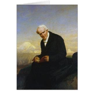 Baron Alexander von Humboldt durch Julius Schrader Grußkarte