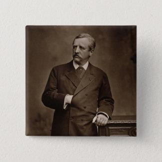 Baron Nils Adolf Erik Nordenskjold (1832-1901), Quadratischer Button 5,1 Cm