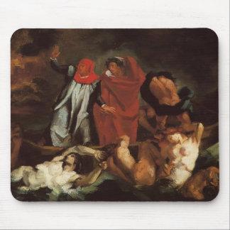 Barque de Paul Cezanne-The de Dante (après Delacro Tapis De Souris