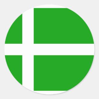 Barra, Königreich-Flagge Runder Aufkleber