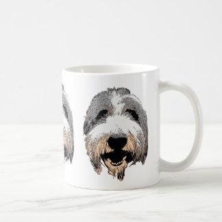 Bärtige Collie-Pop-Kunst-Tasse Tasse
