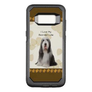 Bärtiger Collie auf TAN-Blätter OtterBox Commuter Samsung Galaxy S8 Hülle