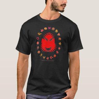 Bärtiger König - Rot T-Shirt