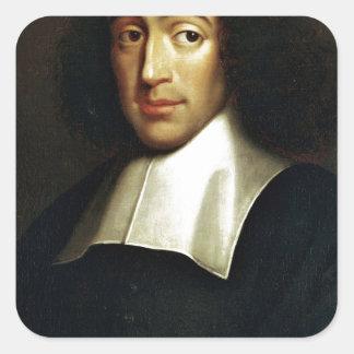 Baruch Spinoza Quadratischer Aufkleber