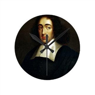 Baruch Spinoza Runde Wanduhr