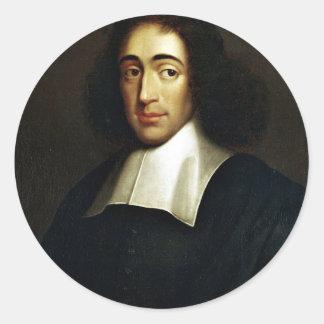 Baruch Spinoza Runder Aufkleber