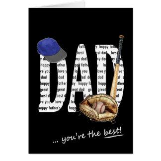 Base-ball de fête des pères carte de vœux
