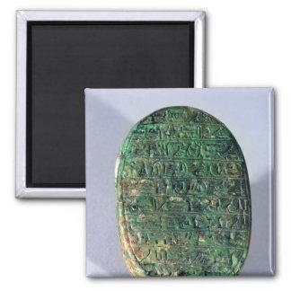 Base d'un scarabée de mariage d'Amenhotep III Aimants