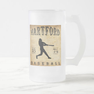 Baseball 1874 Hartfords Connecticut Mattglas Bierglas