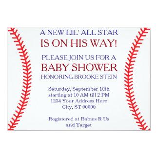 Baseball-Babyparty-Einladung Karte