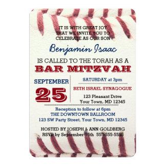 Baseball-Beschaffenheits-Bar Mitzvah Einladung