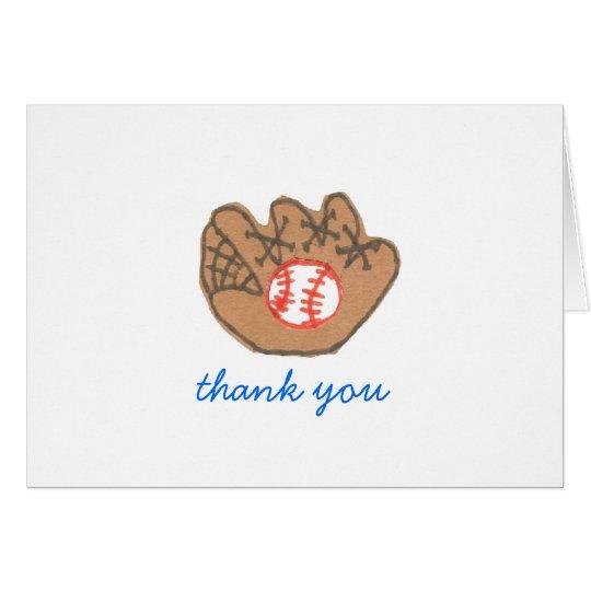 Baseball Dankes- Karte