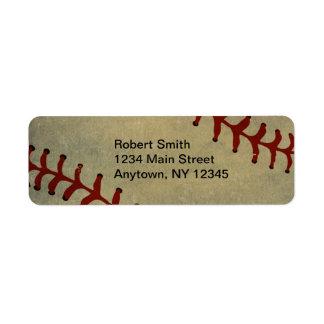 Baseball-Entwurfs-Rücksendeadressen-Aufkleber Rücksendeetiketten