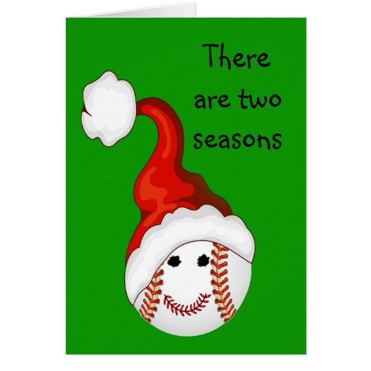 Baseball - Fan-Weihnachten Grußkarte