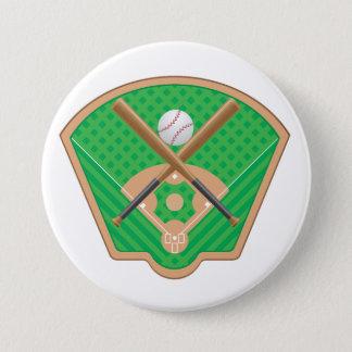 Baseball-Feld-Knopf Runder Button 7,6 Cm