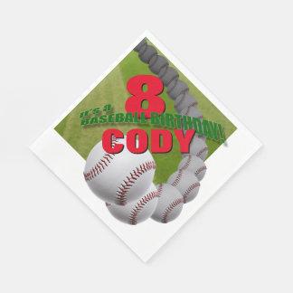 Baseball-Geburtstag - kundenspezifische Servietten