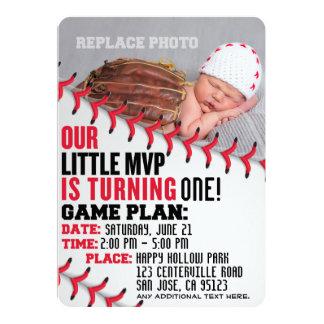 """Baseball-Geburtstags-Einladung """"unseres kleinen Karte"""