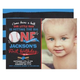 Baseball-Geburtstags-Einladungs-Baseball-1. Karte