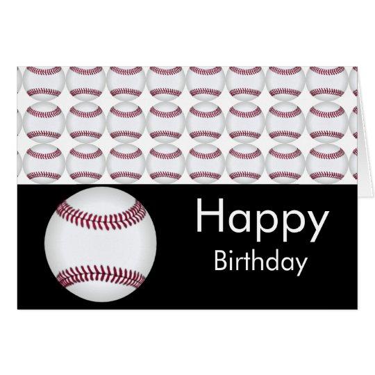 Baseball-Geburtstags-Karte Grußkarte