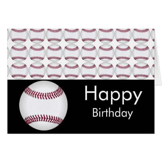 Baseball-Geburtstags-Karte Karte