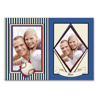 Baseball-Hochzeits-Trading Cards Karte
