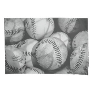 Baseball in Schwarzweiss Kissen Bezug