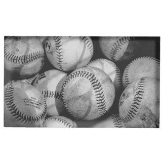 Baseball in Schwarzweiss Tischkartenhalter