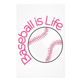 Baseball ist Leben Bedrucktes Papier