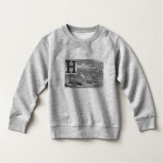 Baseball-Jungen Anfangsh trägt den hohen Vintagen Sweatshirt