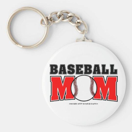 Baseball-Mamma Keychain Standard Runder Schlüsselanhänger