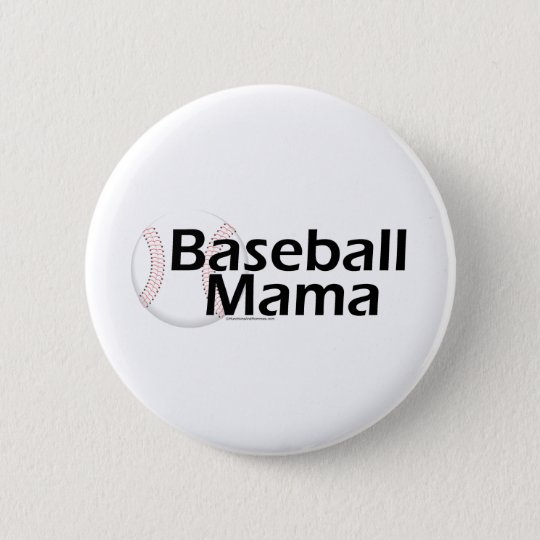 Baseball-Mutter Runder Button 5,7 Cm