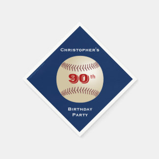 Baseball-Papierservietten, 90. Geburtstags-Party Serviette