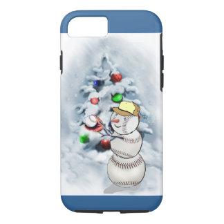 Baseball-Schneemann-Weihnachten iPhone 7 Hülle