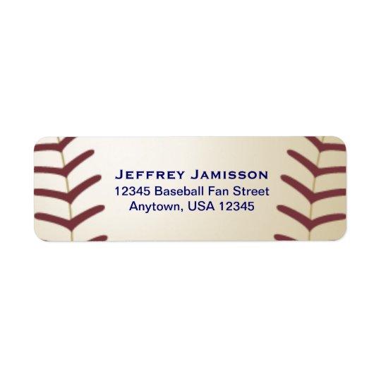 Baseball-Spieler, Fan-Name und Anschrift-Aufkleber Rücksendeetiketten