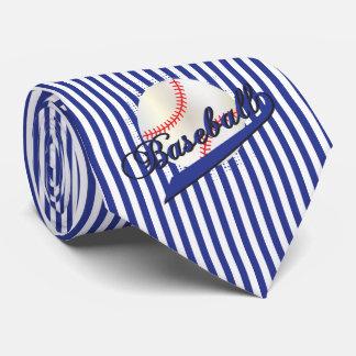 Baseball-Sport in den dunkelblauen und weißen Bedruckte Krawatten