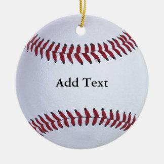 Baseball-Sport Keramik Ornament