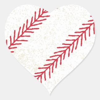 Baseball-Stich-Herz-Aufkleber Herz-Aufkleber